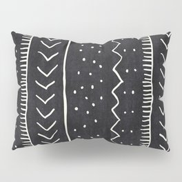 Moroccan Stripe in Black and White Kissenbezug