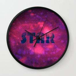 Star - purple universe Wall Clock