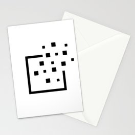 Pixels leaving the borders. Without Borders. Stationery Cards