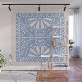 Fiesta de Flores Serenity Blue Wall Mural