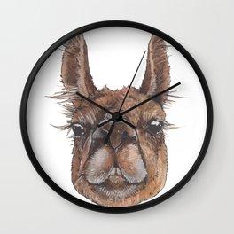 Asher the Wonder Llama - artist Ellie Hoult Wall Clock