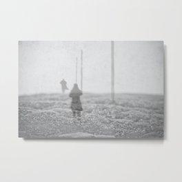 Winter's Crossing Metal Print