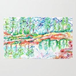Colorful landscape Rug