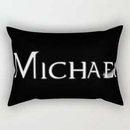 Archangel Michael with Feather Rectangular Pillow