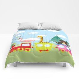 Animals Train , Nursery decor Comforters