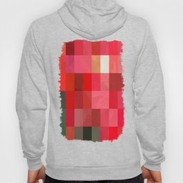 Mottled Red Poinsettia 1 Ephemeral Abstract Rectangles 3 Hoody