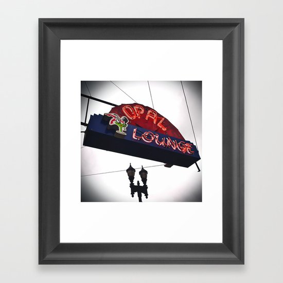 Historic neon sign Framed Art Print
