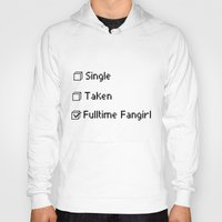 fangirl Hoodies featuring fulltime fangirl by Sara Eshak