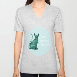 Cats Against Catcalls Unisex V-Neck