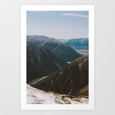 View from Avalanche Peak Art Print