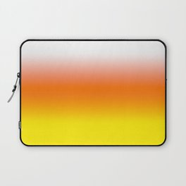 White Orange and Yellow Halloween Candy Corn Laptop Sleeve
