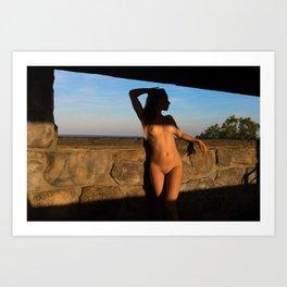 Nude in nature Art Print