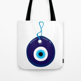 Turkish Blue Eye Bead Tote Bag