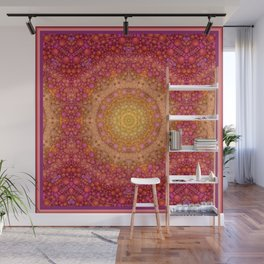 Love Will Find A Way -- Kaleidescope Mandala in the colors of Love Wall Mural