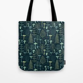 Magic Forest Green Tote Bag
