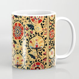 Shakhrisyabz Suzani  Antique Uzbekistan Embroidery Print Coffee Mug