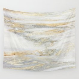 White Gold Marble Texture Wall Tapestry
