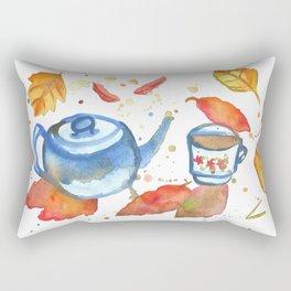 Autumn Cup Of Tea Rectangular Pillow