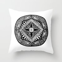 deco Throw Pillows featuring Deco by ThisIsG1