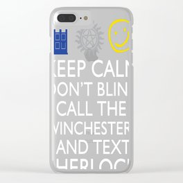 SUPERWHOLOCK SUPERNATURAL DOCTOR WHO SHERLOCK Clear iPhone Case