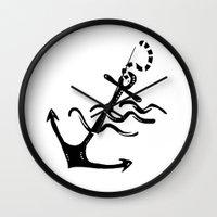 anchor Wall Clocks featuring Anchor by barmalisiRTB