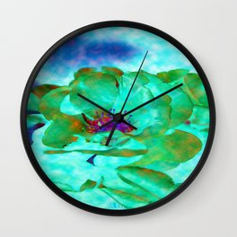 Different Colored Rose Wall Clock