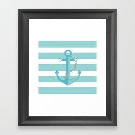 AFE Nautical Agua Ship Anchor Framed Art Print