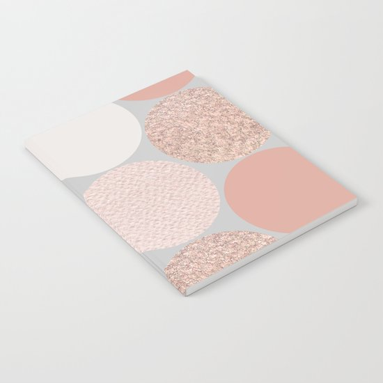 Rose Gold Dots Notebook