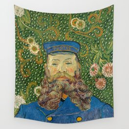 Van Gogh Postman- Portrait of Joseph Roulin Wall Tapestry