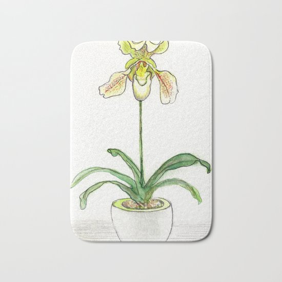 Slipper Orchid Bath Mat