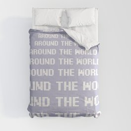 around the world plum art print. Comforters