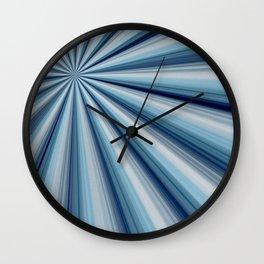 Blue Star Burst Wall Clock
