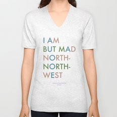 Shakespeare - Hamlet - I Am But Mad North-North-West Unisex V-Neck