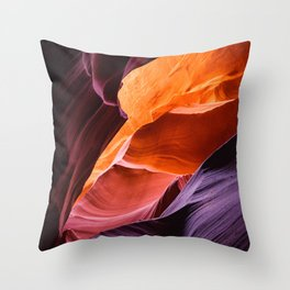 Waves of Earth Throw Pillow