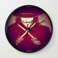 V for Vendetta4 Wall Clock