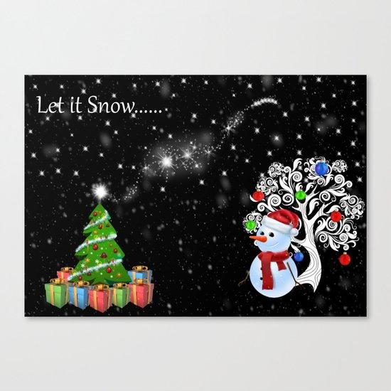 Let it Snow..... Canvas Print