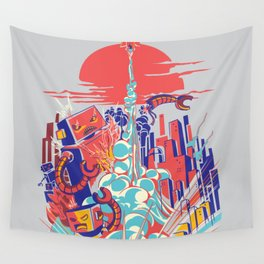 Smash! Zap!! Zooom!! - Generic Spacecraft Wall Tapestry