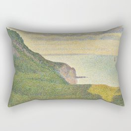 Georges Seurat Seascape at Port-en-Bessin, Normandy 1888 Painting Rectangular Pillow