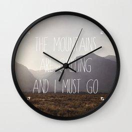 I Must Go Wall Clock