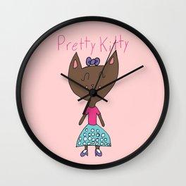 PRETTY KITTY Wall Clock