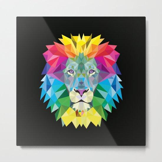 High Color Lion  Metal Print