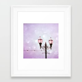 Lamplight of Cotton Candy Dreams Framed Art Print