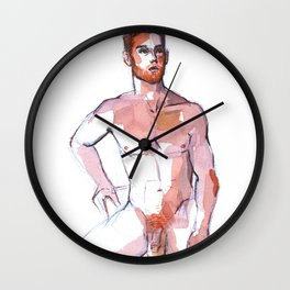 PATCH, Nude Male by Frank-Joseph Wall Clock