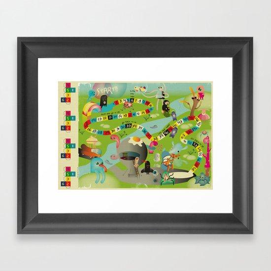 JeU De l'Oie Framed Art Print