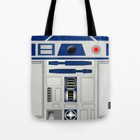 r2d2 Tote Bags featuring R2D2 by Smart Friend