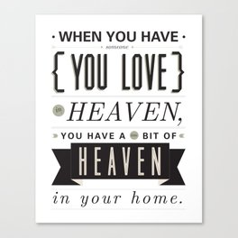 Someone In Heaven-BLACK Canvas Print