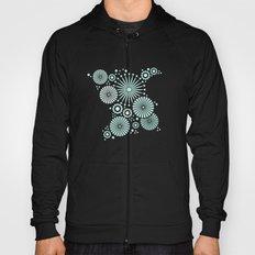 Mint and grey geometric flowers Hoody