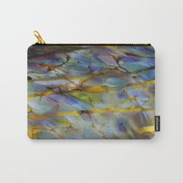 Abstract Blue Carry-All Pouch