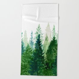 Pine Trees 2 Beach Towel