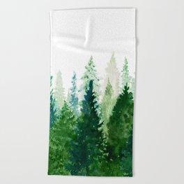 Pine Trees 2 Beach Towel